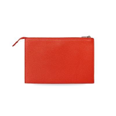 trio clutch bag red